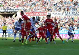 Acción previa al gol de Dorca.
