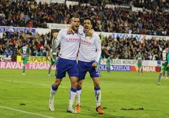 Ortuño y Pedro Real Zaragoza Ponferradina